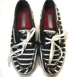 Sperry boat shoes loafers navy white size 6M